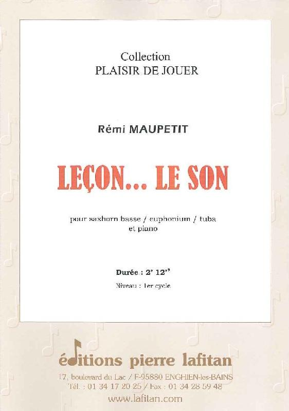 Maupetit Remi - Leçon... Le Son - Saxhorn Basse Sib / Euphonium Sib / Tuba Ut Et Piano