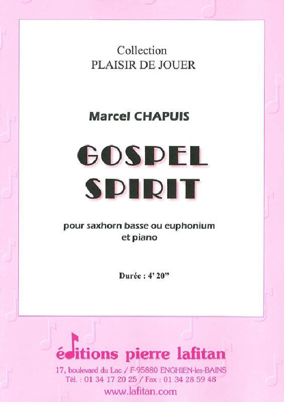 Chapuis Marcel - Gospel Spirit - Saxhorn Basse Sib / Euphonium Sib / Euphonium Ut Et Piano