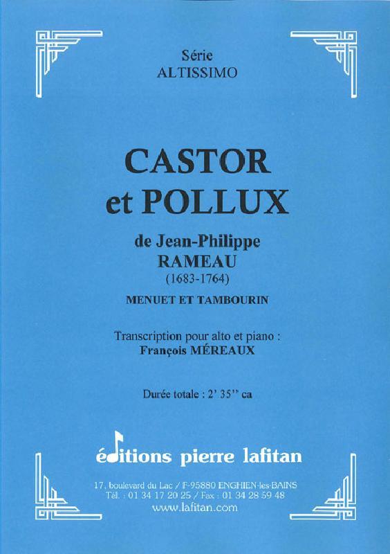 Rameau J.-ph. - Castor Et Pollux - Alto Et Piano