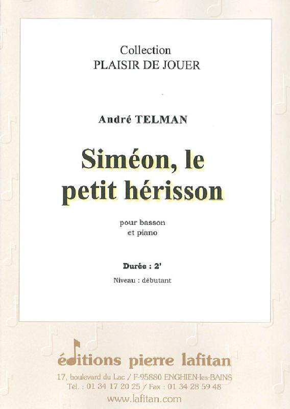 Telman Andre - Simeon, Le Petit Herisson - Basson Et Piano