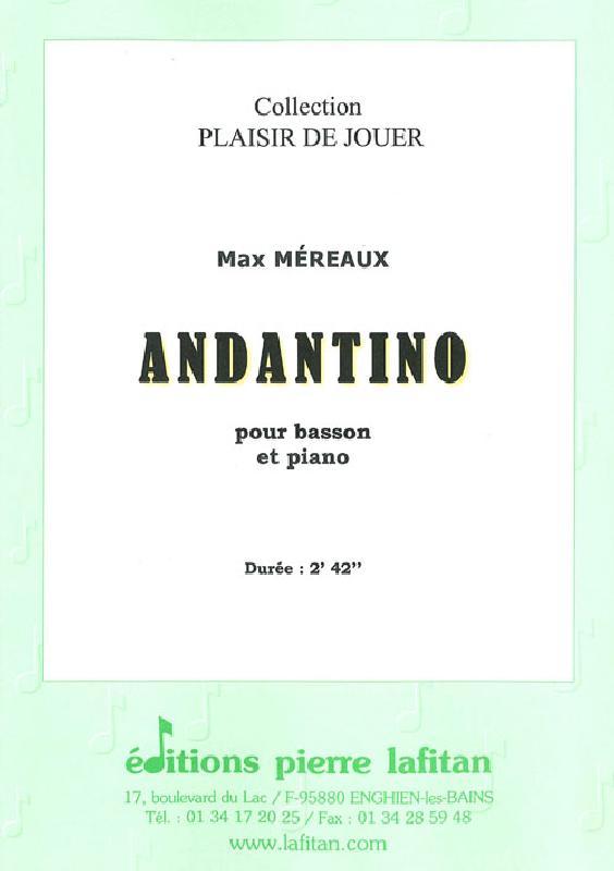 Mereaux Max - Andantino - Basson Et Piano