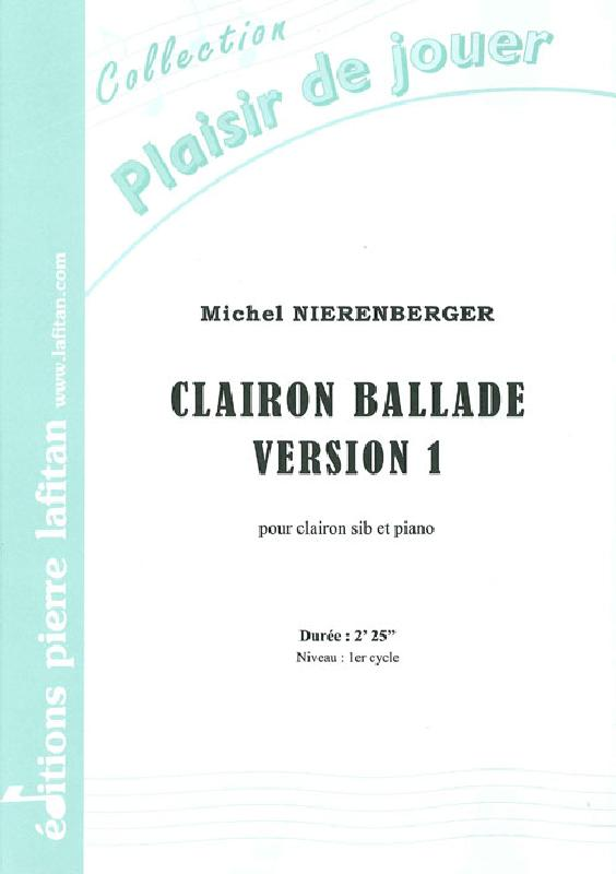 Nierenberger Michel - Clairon Ballade - Version 1 - Clairon Et Piano