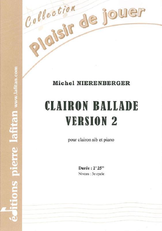 Nierenberger Michel - Clairon Ballade - Version 2 - Clairon Et Piano
