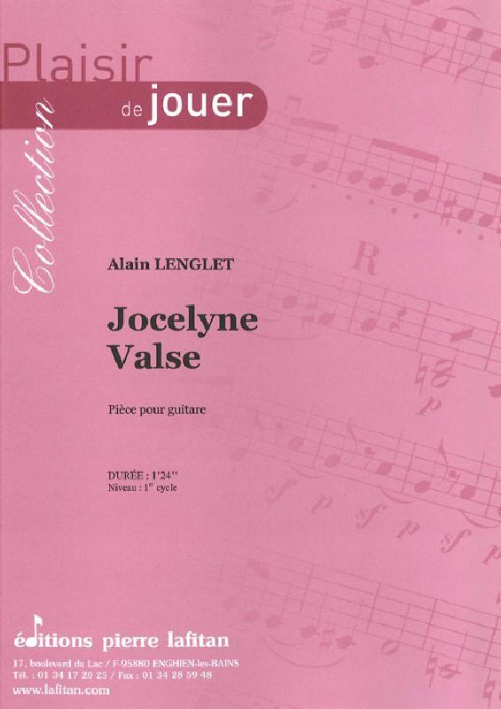 Lenglet Alain - Jocelyne Valse - Guitare