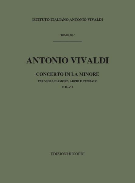 Vivaldi A. - Concerti In La Min Rv 397 - Viole D'amour