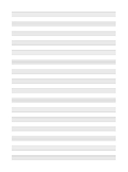 Papier Musique 16 Portees (5 Feuilles)