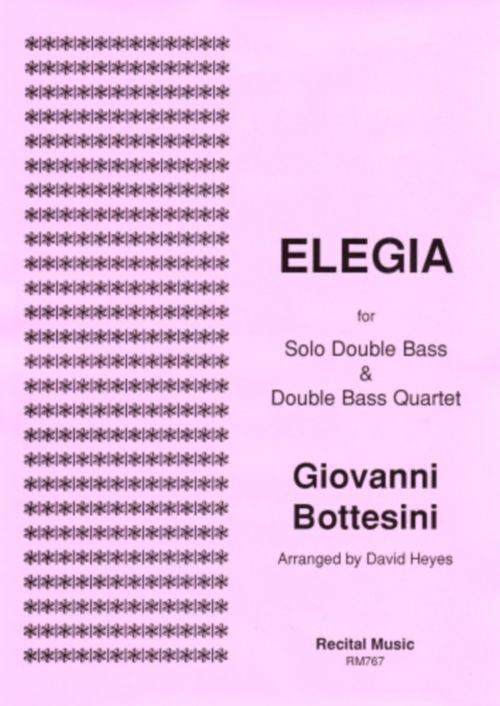 Bottesini G. - Elegia -quintette De Contrebasses