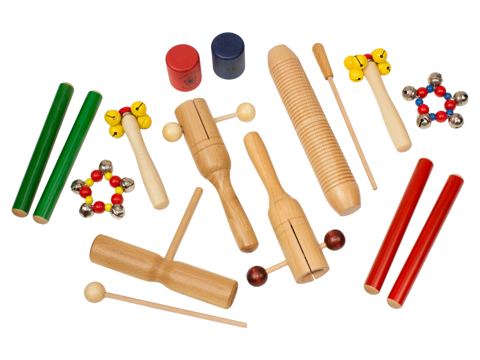 KIDS PERCUSSION SET - 12 INSTRUMENTS - 3+