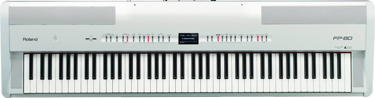 roland fp 80 wh stand piano buy online free. Black Bedroom Furniture Sets. Home Design Ideas