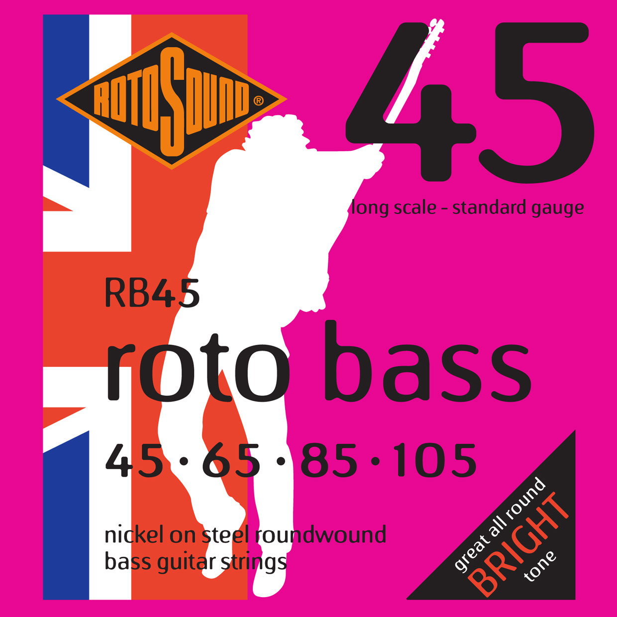 ROTO BASS RB45 NICKEL (UNSILKED) 45105