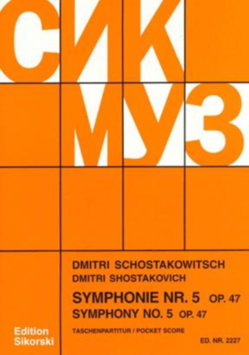 CHOSTAKOVITCH D. - SYMPHONIE N°5 OP.47 - CONDUCTEUR