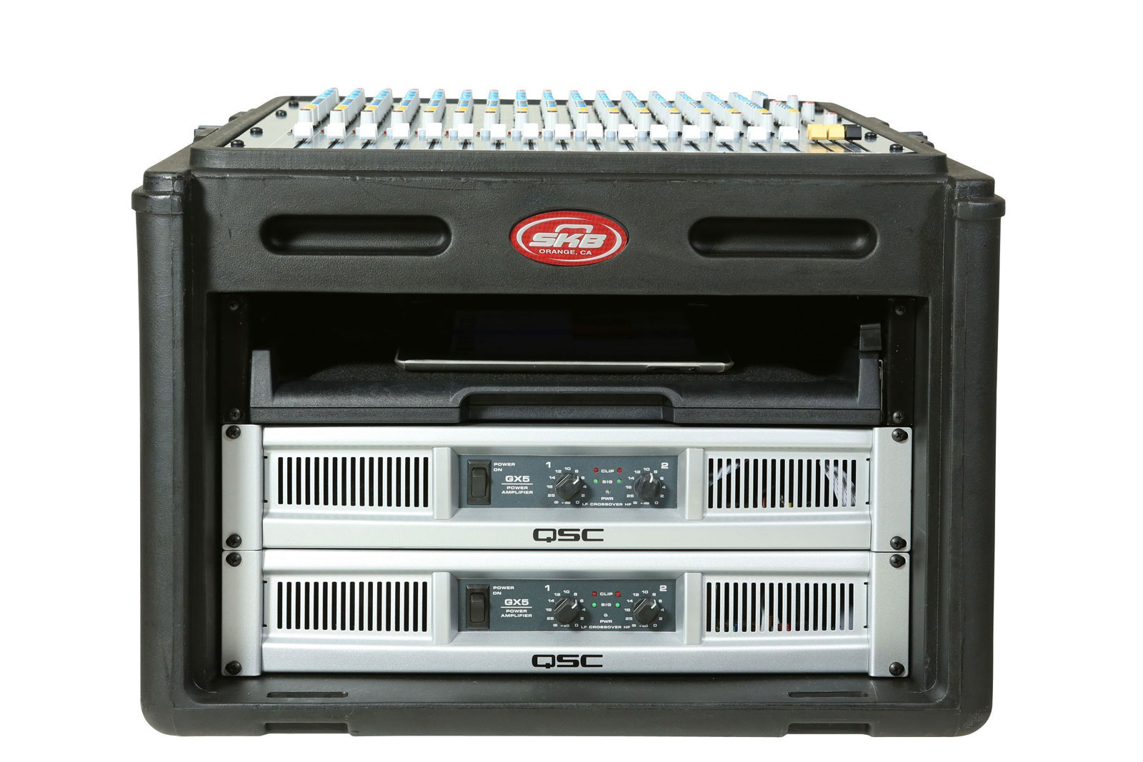 1SKB-R106 - ROTO RACK 10X6 RACK CONSOLE, STEEL RAILS, HARD TOP, LEFT / RIGHT ACCESS DOORS