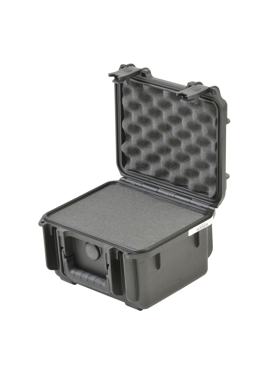 3I-0907-6B-C - UNIVERSAL WATERPROOF CASE 250 X 178 X 156 (125+30) MM WITH MINI-LATCH, CUBED FOAM