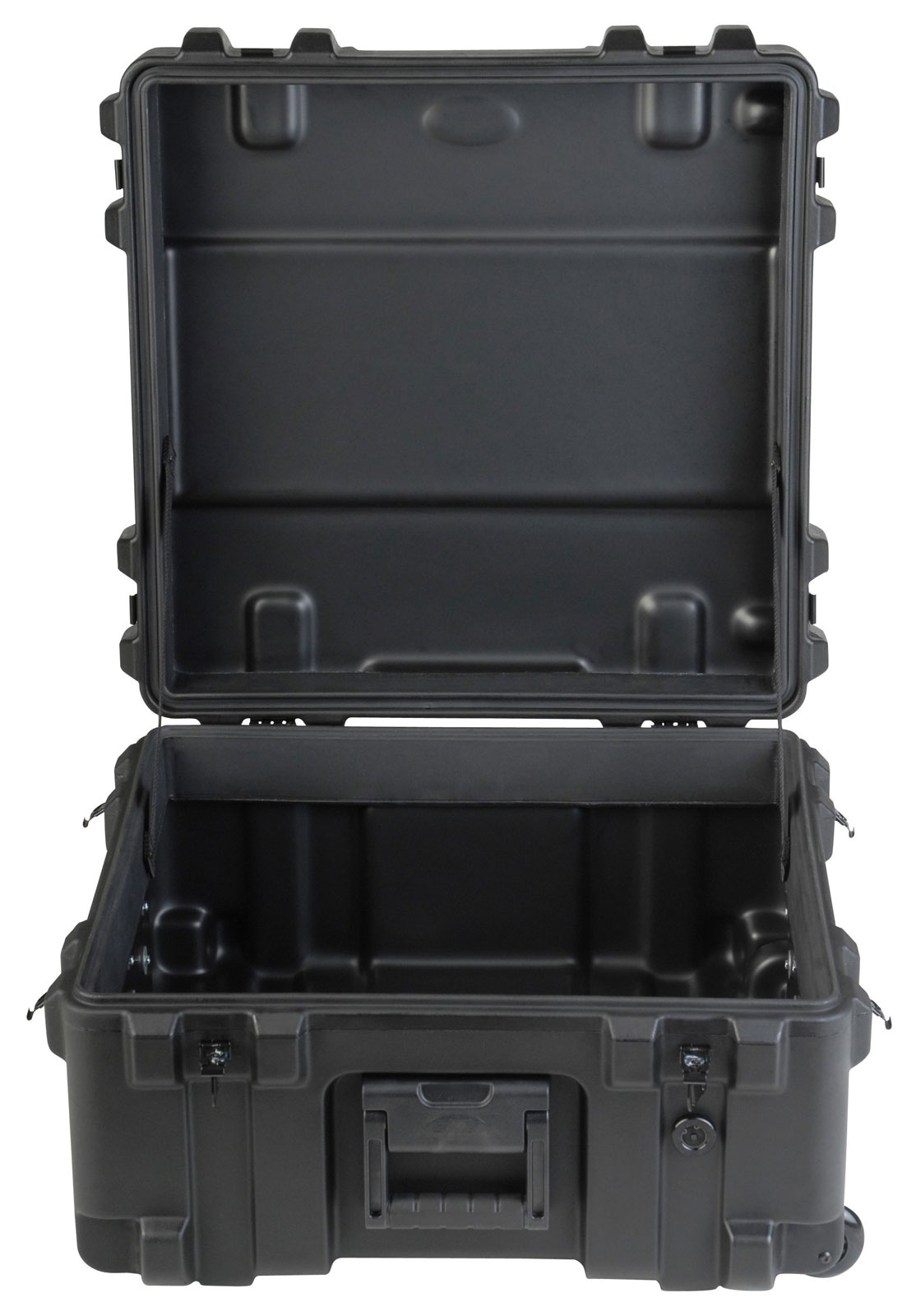 3R2222-12B-EW - UNIVERSAL WATERPROOF ROTO-MOLDED CASE 558 X 558 X 304 (229+76) MM EMPTY WITH WHEEL