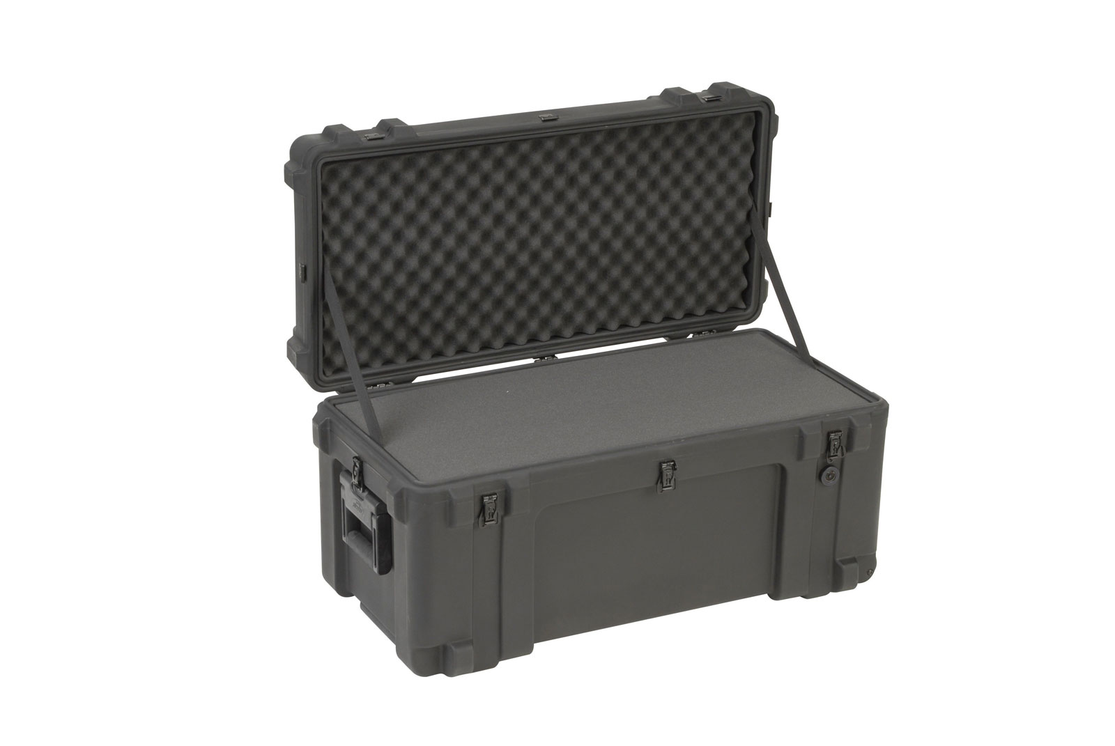 3R3214-15B-CW - UNIVERSAL WATERPROOF ROTO-MOLDED CASE 812 X 368 X 400 (318+83) MM WITH FOAM & WHE