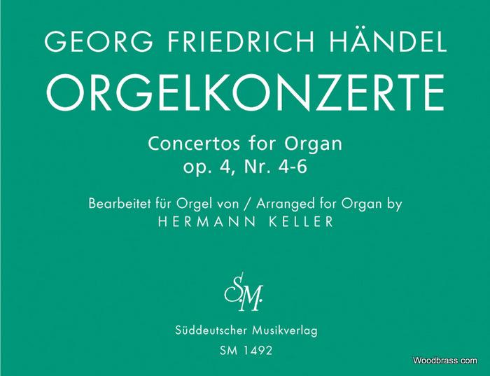 Haendel G.f. - Orgelkonzerte Fur Orgel Allein Mit Pedal. Heft 2 Op. 4 - Orgue