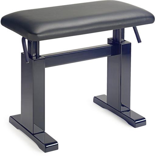 Stagg bkp lbk banquette noir brillant cuir pbh 780 bkp lbk piano buy on - Banquette simili cuir noir ...