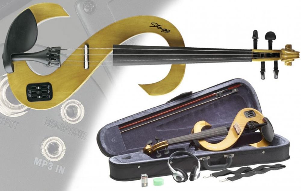 stagg electric violin set 4 4 evn 4 4 h honey violins. Black Bedroom Furniture Sets. Home Design Ideas