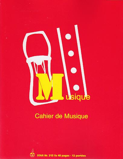 Cahier Musique Mixte  - 48 Pages 12  Portées