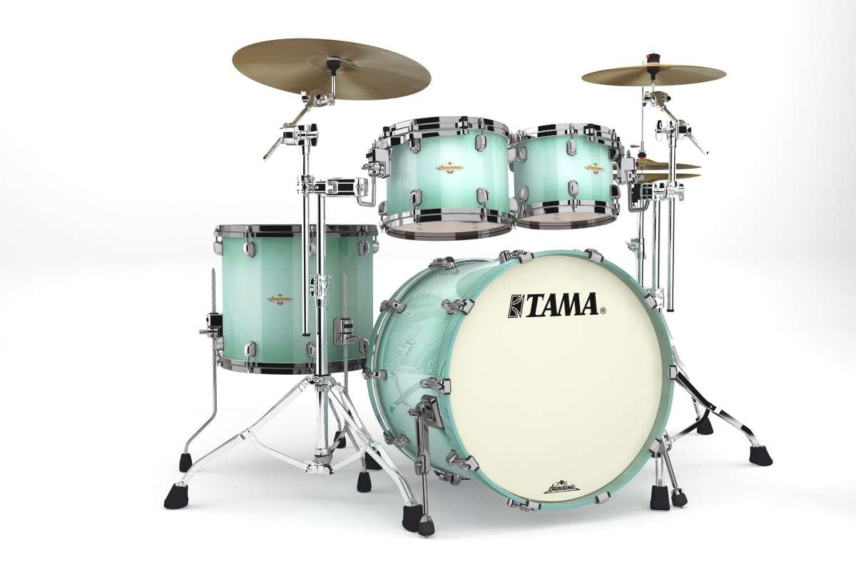 Tama Ma42zbns-ljb - Starclassic Maple 4 Futs 22/10/12/16 Sans Hardware Light Jade...