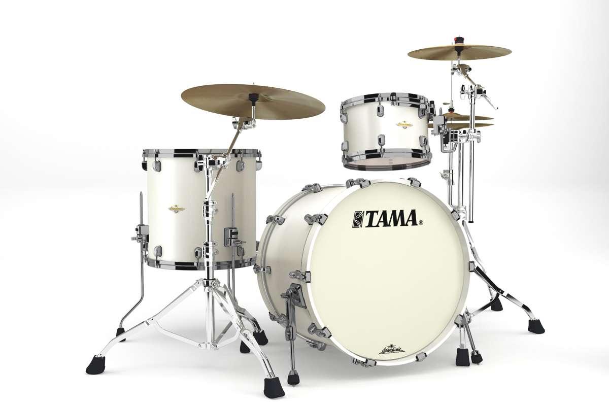 Tama Ma32rzbns-spw - Starclassic Maple 3 Futs 22/12/16 Sans Hardware Satin Pearl...