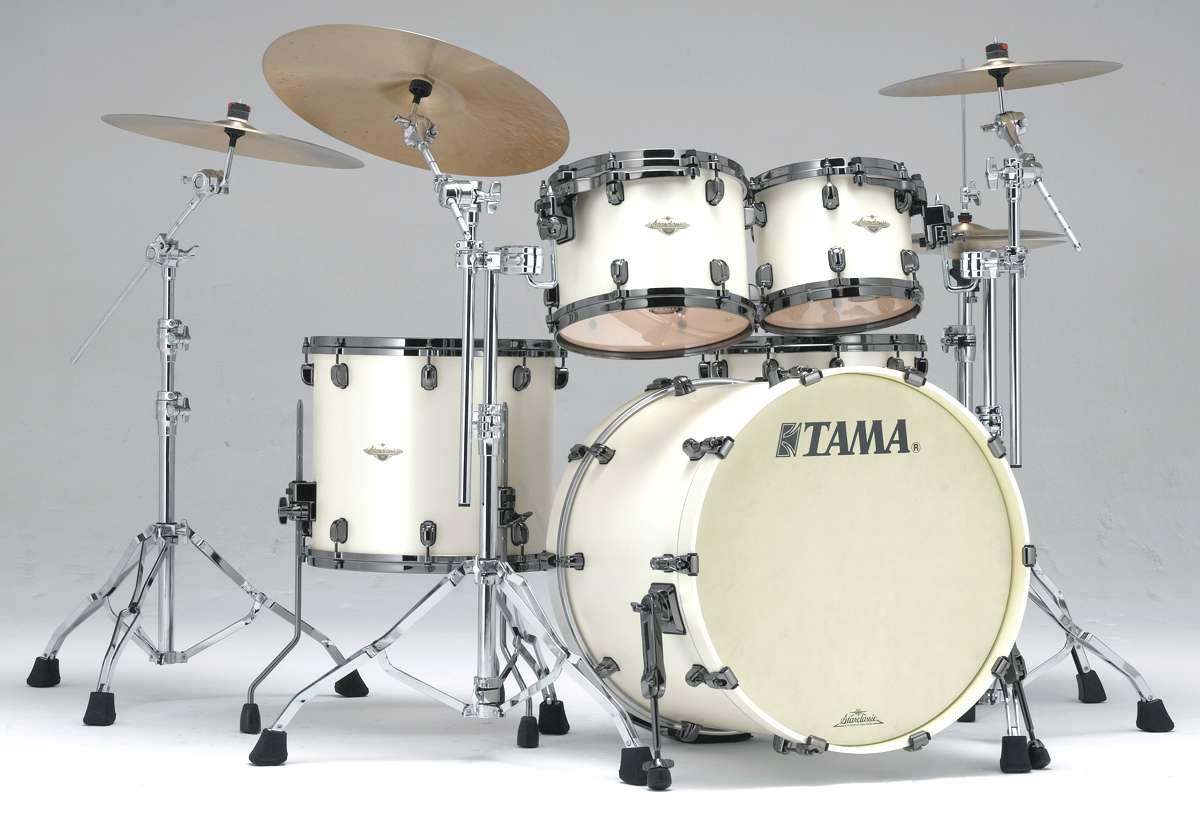 Tama Ma42zbns-spw - Starclassic Maple 4 Futs 22/10/12/16 Sans Hardware Satin Pearl...