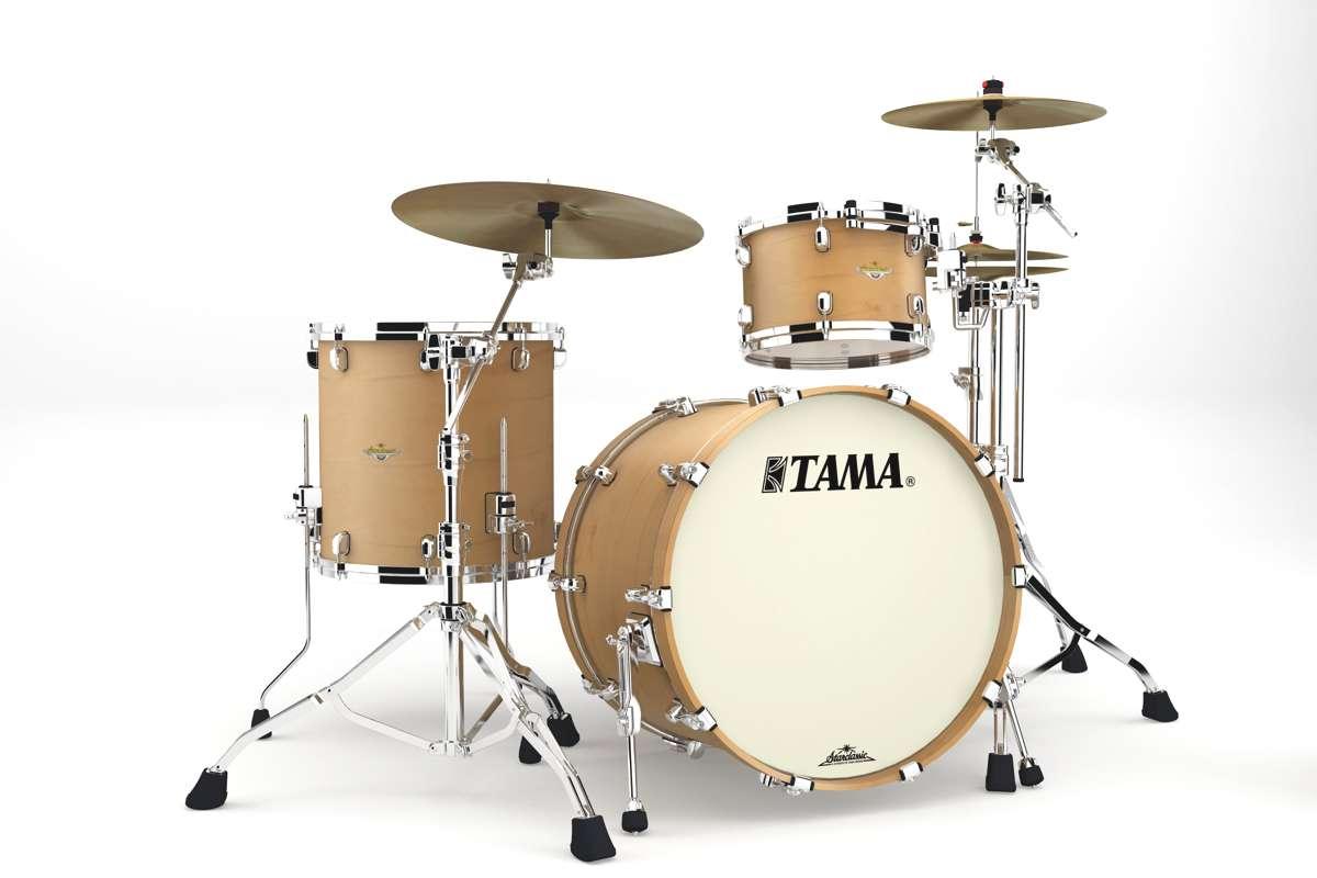 Tama Ma32rzs-vam - Starclassic Maple 3 Futs 22/12/16 Sans Hardware Vintage Antique...