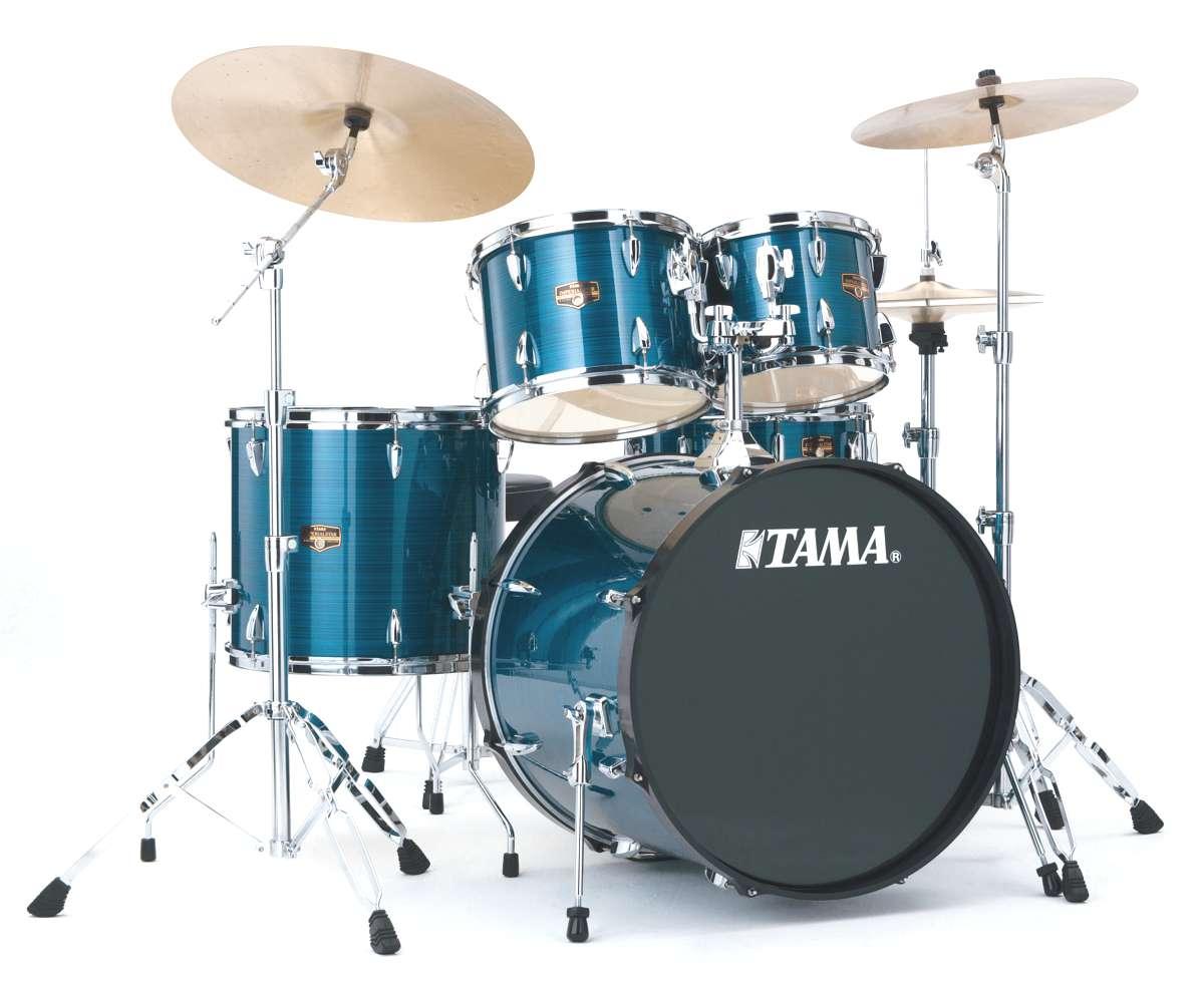 Tama Ip52kh6-hlb - Imperialstar 5 Futs 22/10/12/16 Avec Hardware Hairline Blue