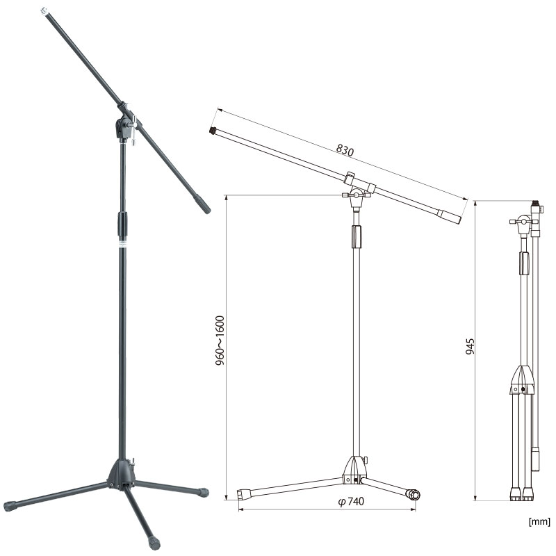 STRAIGHT MICROPHONE STAND (CHROME) MS205BK
