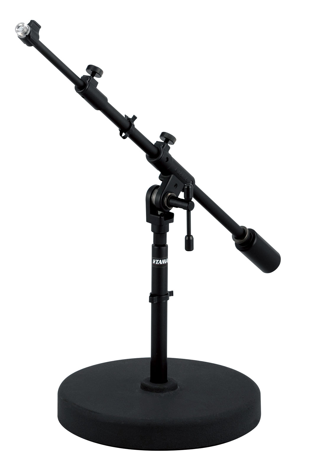 STUDIO LOW BOOM MICROPHONE STAND ROUND BASE MS736RELBK