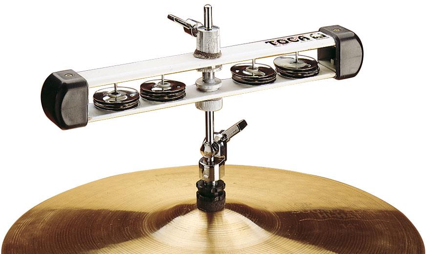 toca t2504 hi hat tambourine percussion buy online free. Black Bedroom Furniture Sets. Home Design Ideas