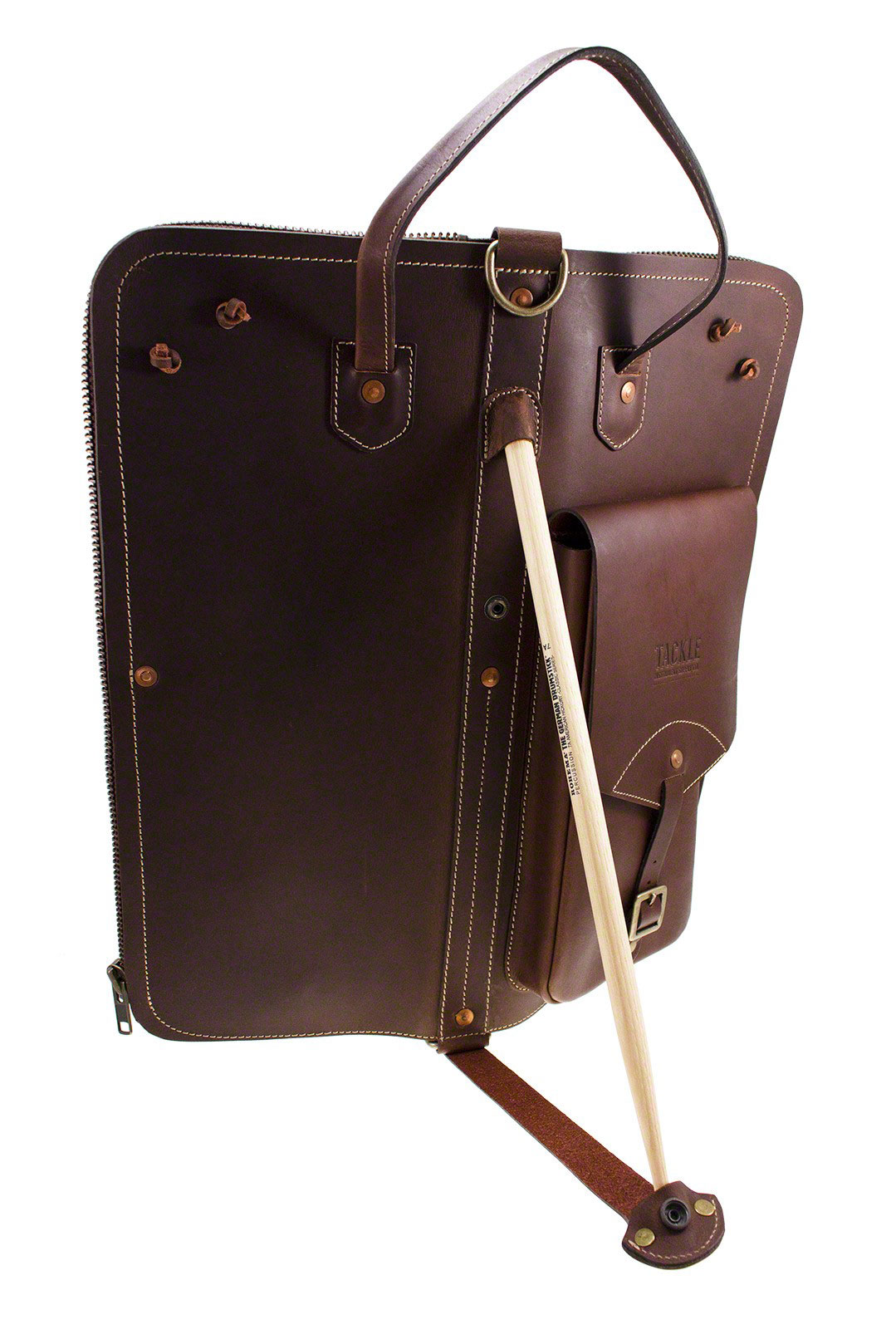 LEATHER STICK CASE - BROWN
