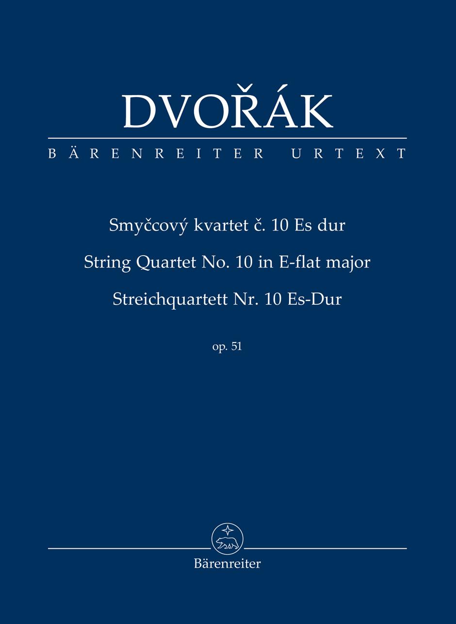 Dvorak Anton - String Quartet N°10 E-flat Major Op.51 - Score