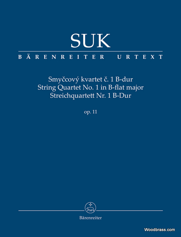 Suk J. - String Quartet N°1 In B-flat Major - Score