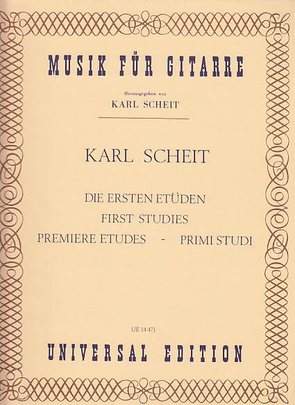 Scheit Karl - Premieres Etudes