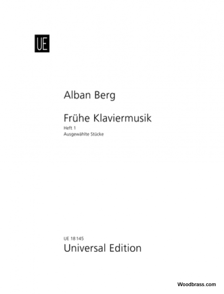 BERG ALBAN - SELECTED PIANO PIECES BAND 1 - PIANO