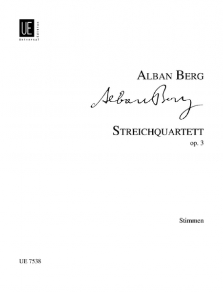 BERG ALBAN - STRING QUARTET PARTS OP.3 - STRING QUARTET