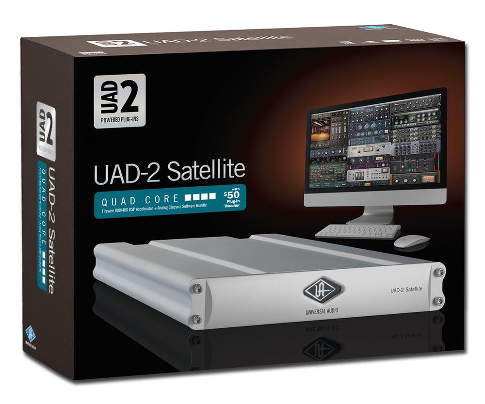 new universal audio uad 2 satellite quad core firewire dsp accelerator package. Black Bedroom Furniture Sets. Home Design Ideas