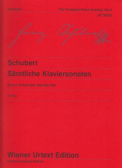 Schubert F. - Sämtliche Klaviersonaten Vol. 3