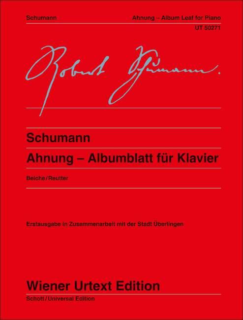 Schumann Robert - Ahnung - Piano