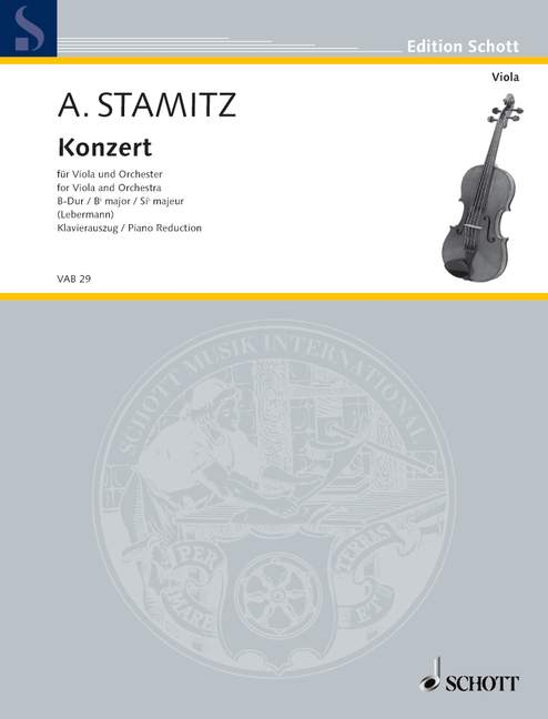 STAMITZ ANTON - CONCERTO BB MAJOR - VIOLA AND STRING ORCHESTRA