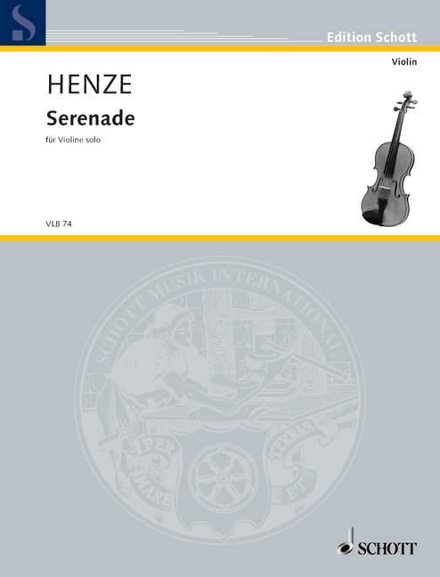 Henze Hans Werner - Serenade - Violin