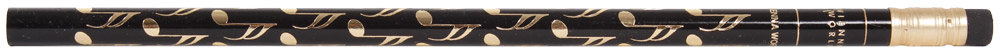 PENCIL NOTE BLACK AND GOLD