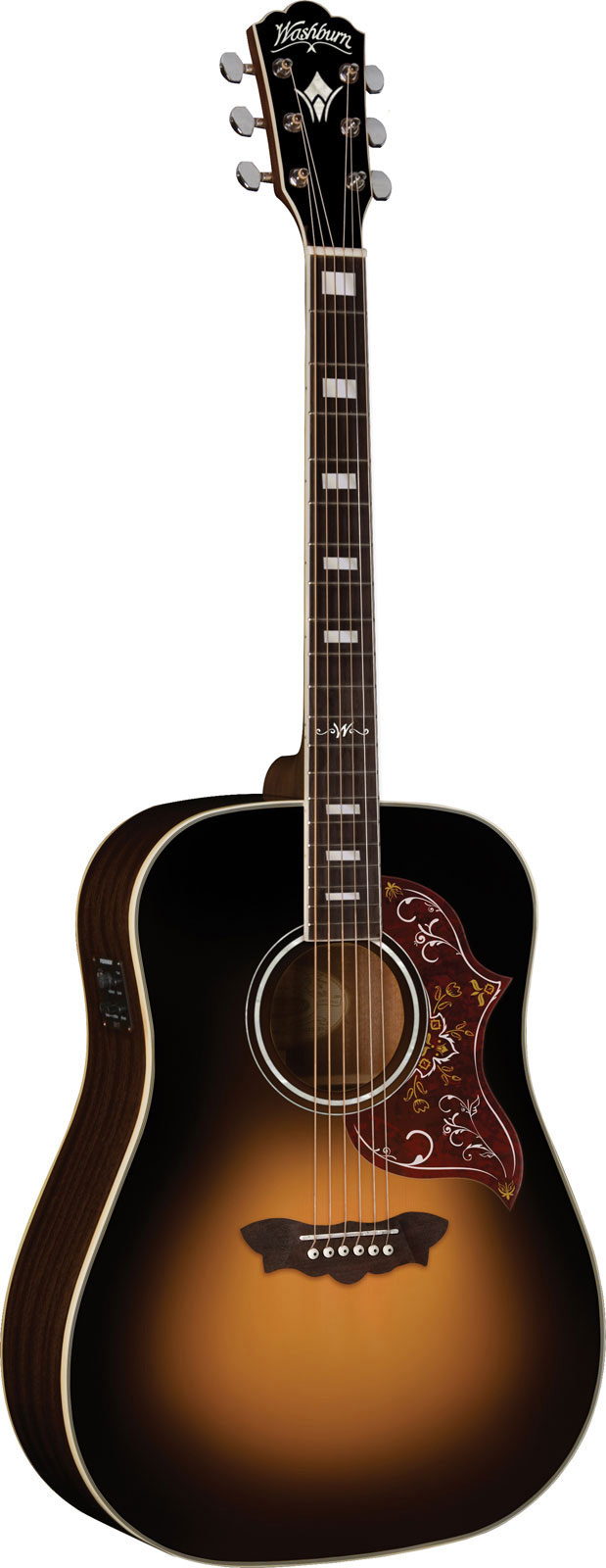 Washburn Wd220seatb Dreadnought Antique Tobacco Sunburst