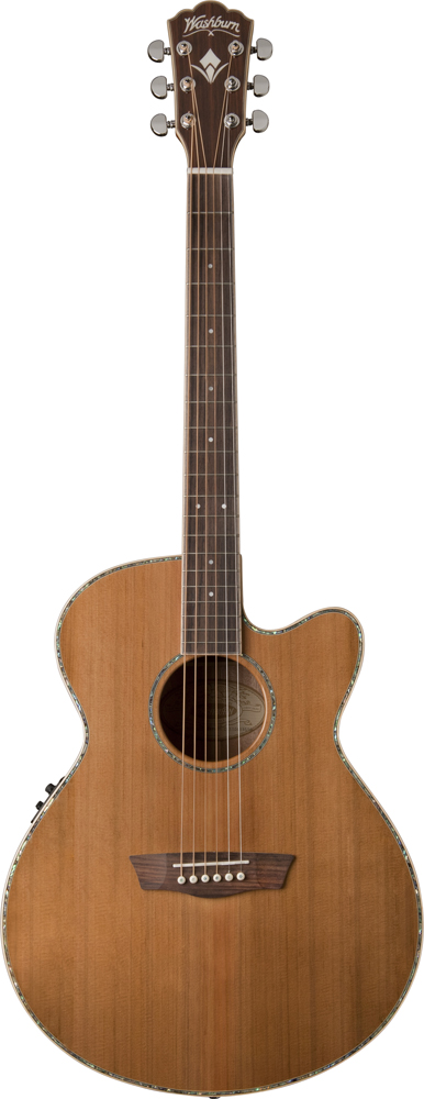 Washburn Wg16sce Grand Auditorium Natural