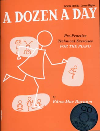 BURNAM EDNA MAE - DOZEN A DAY BOOK.4 + CD