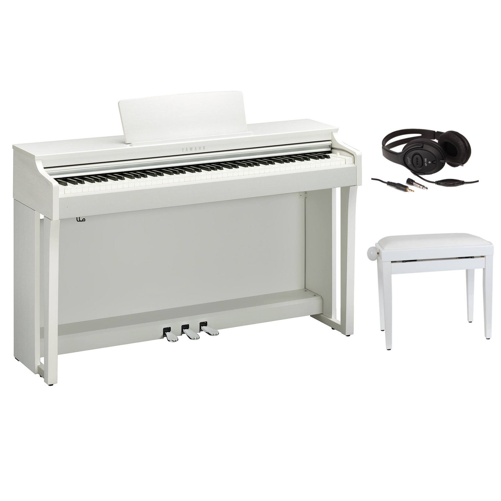 yamaha clavinova clp635wh blanc piano buy online. Black Bedroom Furniture Sets. Home Design Ideas