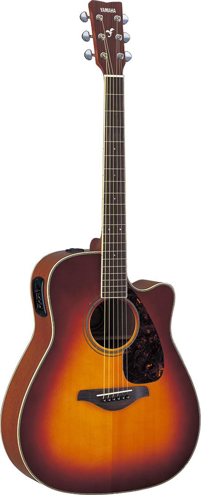 Yamaha Fgx720sciibs Brown Sunburst