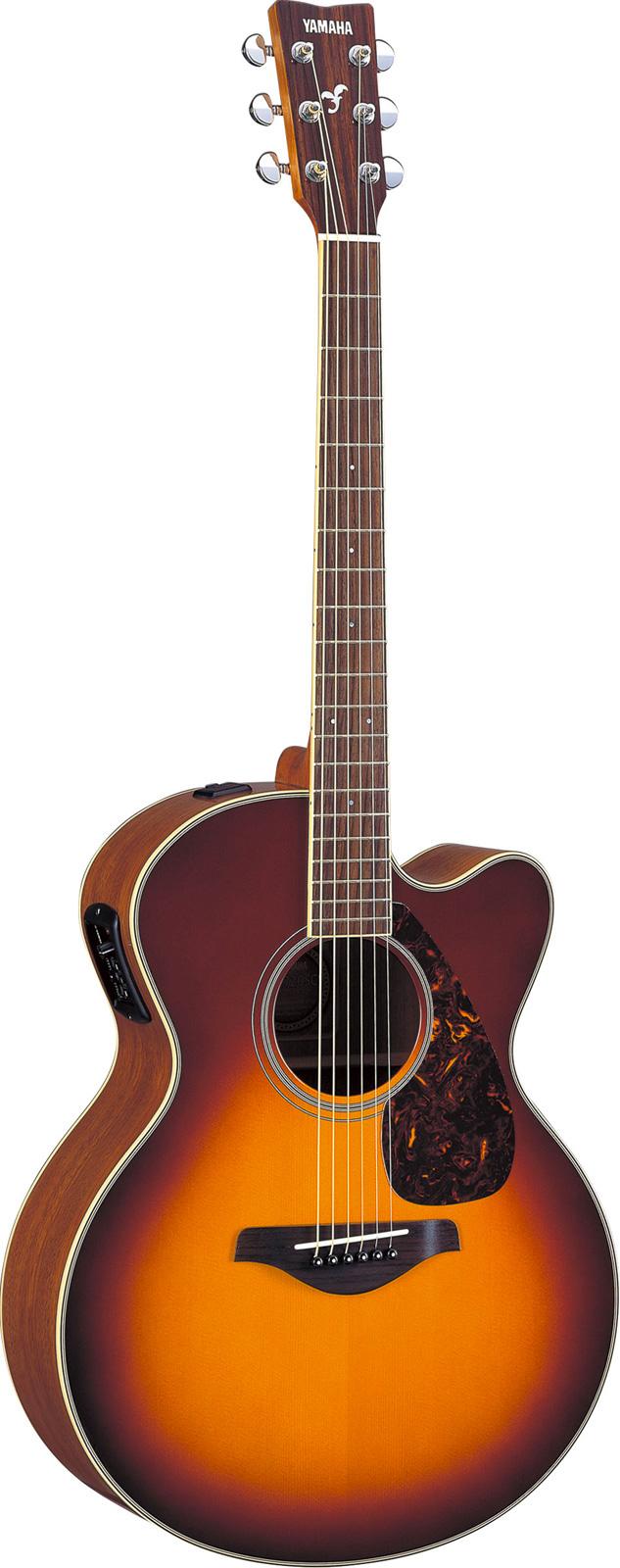 Yamaha Fjx720sciibs Brown Sunburst