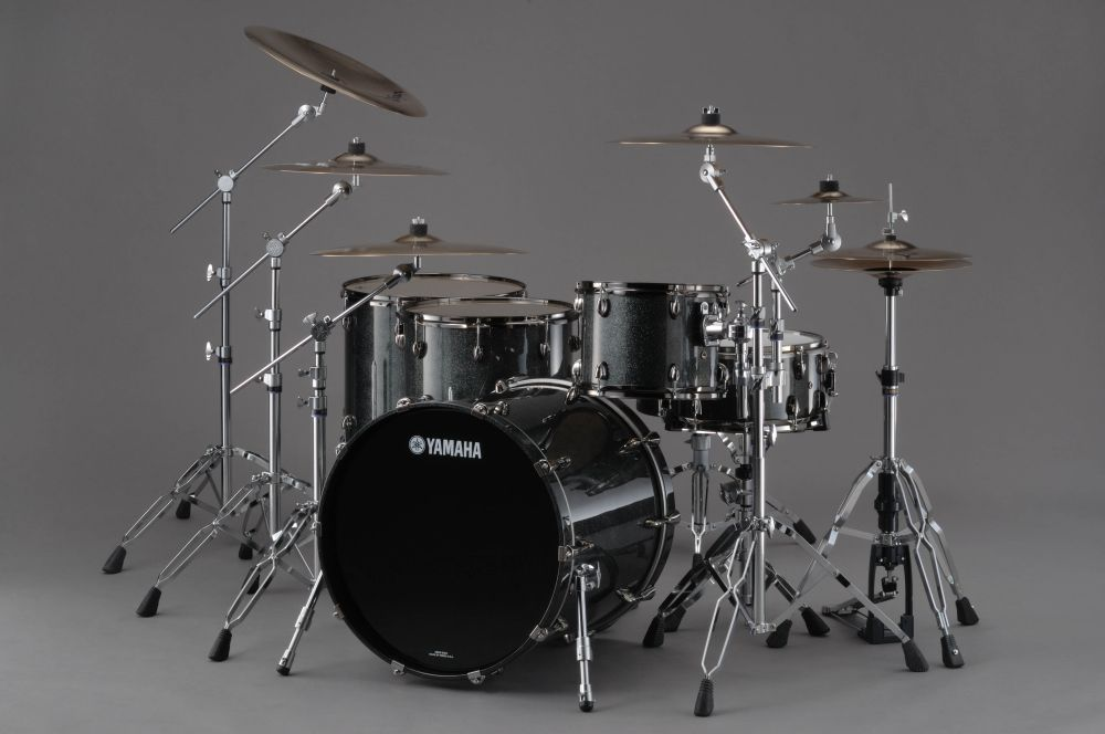 Yamaha Oak Custom X Black Sparkle Drum Buy Online